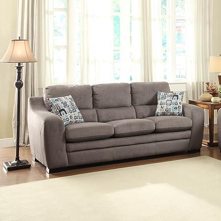 Homelegance Neve Sofa in Grey Fabric