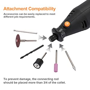 DEKO 120V Rotary Tool Kit 7 Attachments Variable Speed 42 Accessories with Flex Shaft,Grinding,Cutting,Sanding (Color: Black, Tamaño: Medium)