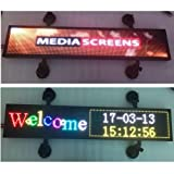 LED Car display P4 programmable led sign support scrolling text image LED advertising screen display 21x6 inch RGB full color indoor LED sign (Color: indoor full color, Tamaño: 21x6 inch)