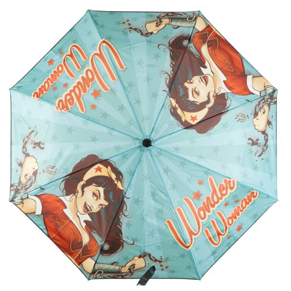 BioWorld Womens DC Comics Wonder Woman Compact Umbrella 1