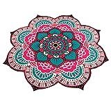 Kimloog Mandala Beach Towels, Yoga Mat Bohemian Beach Pool Home Table Cloth Sunscreen Shawl Bikini Shawl Blanket Decor (Hot pink)