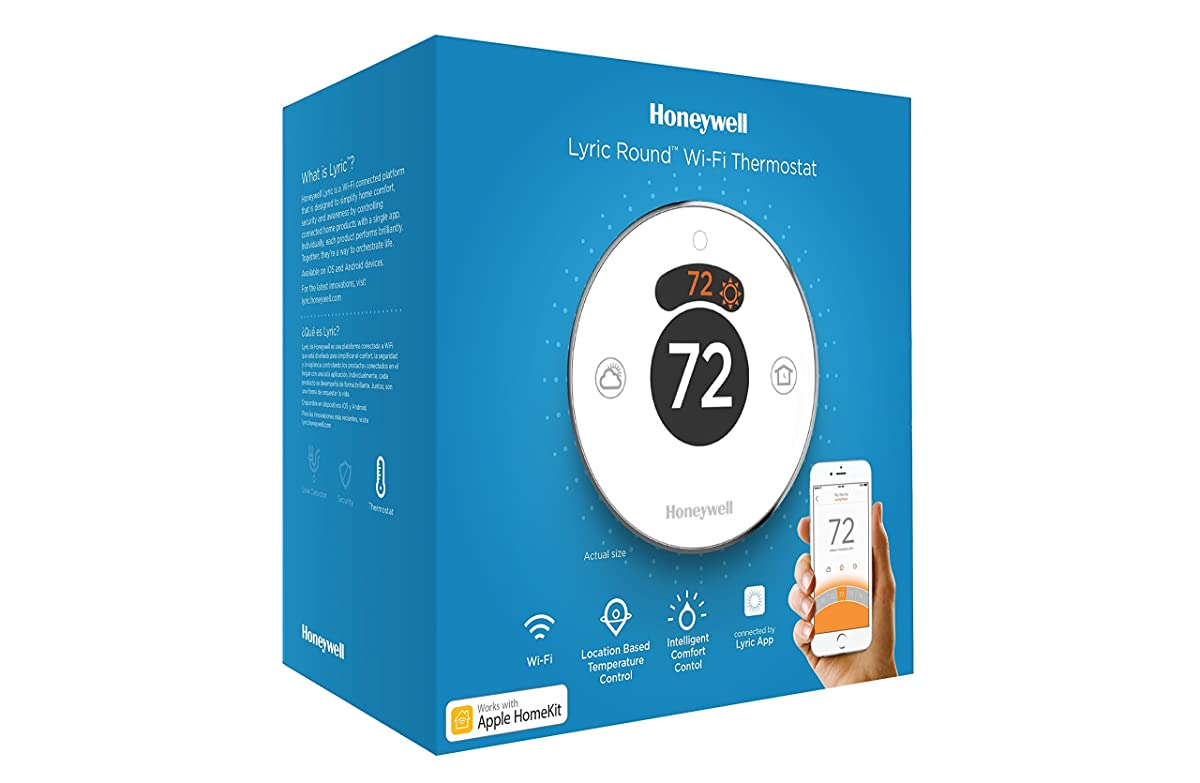 Lyric Round 2.0 Wi-Fi Smart Programmable Thermostat with Geofencing, Works with Apple HomeKit,Amazon Alexa, IFTTT