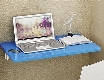 ZXLDP Escritorio De Ordenador Mesa De Aprendizaje Mesa De Pared Mesa De Comedor Plegable Mesa De Oficina Color Opcional ( Color : Azul , Tamaño : 120*50cm )