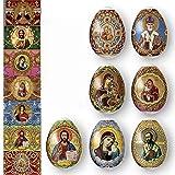 Ukrainian Heat Shrink Wrap Sleeve Decoration Easter Egg Wrappers Pysanka Arounds Set (Faberge) (Color: Faberge)
