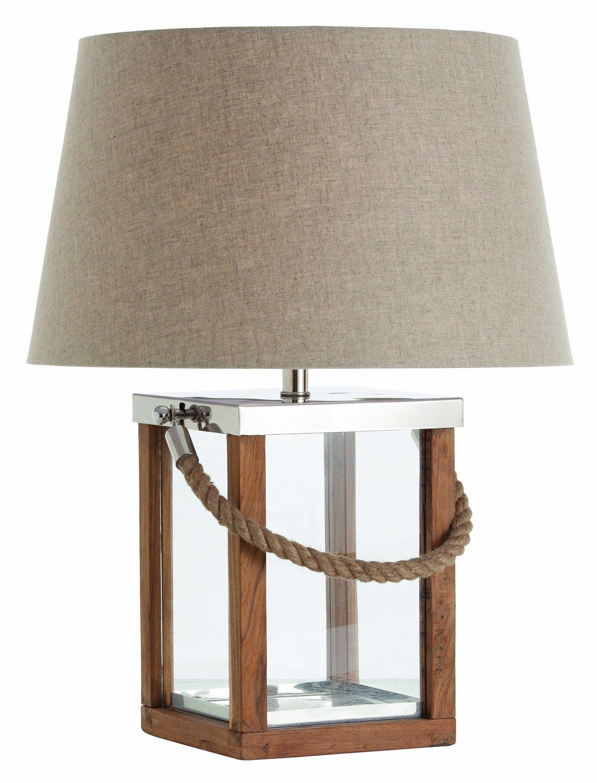 Arteriors 46993 786 Tate Glasswoodsteelrope Handle Lamp