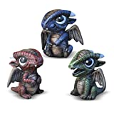 Georgetown Home & Garden Miniature Baby Dragons Assorted Garden Decor, Set of 3 (Tamaño: 1 X Set of 3)
