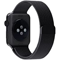 Penom 42mm Fully Magnetic Closure Clasp Apple Watch Band (Black)