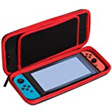 Switch Carrying Case for Nintendo Switch, Arrela Protective Travel Carrying Case Pouch for Nintendo Switch Console & Accessories Black (Color: Black)