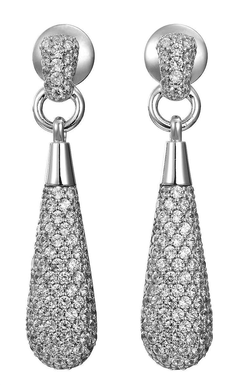 Joop! Damen-Creolen 925 Silber Zirkonia transparent 43 mm JPER90284A000 günstig kaufen