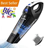 Zerhunt Handheld Vacuum Cleaner, [Newest 2018] Cordless Hand Held Vac Portable 6800PA Powerful Cyclonic Suction Lightweight Rechargeable Wet Dry for Home Pet Hair Car Cleaning Black (Color: Black)