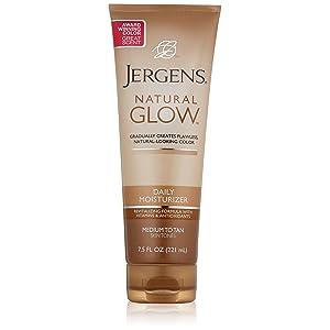 Jergens Glow Daily Moisturizer Med to Tan width=