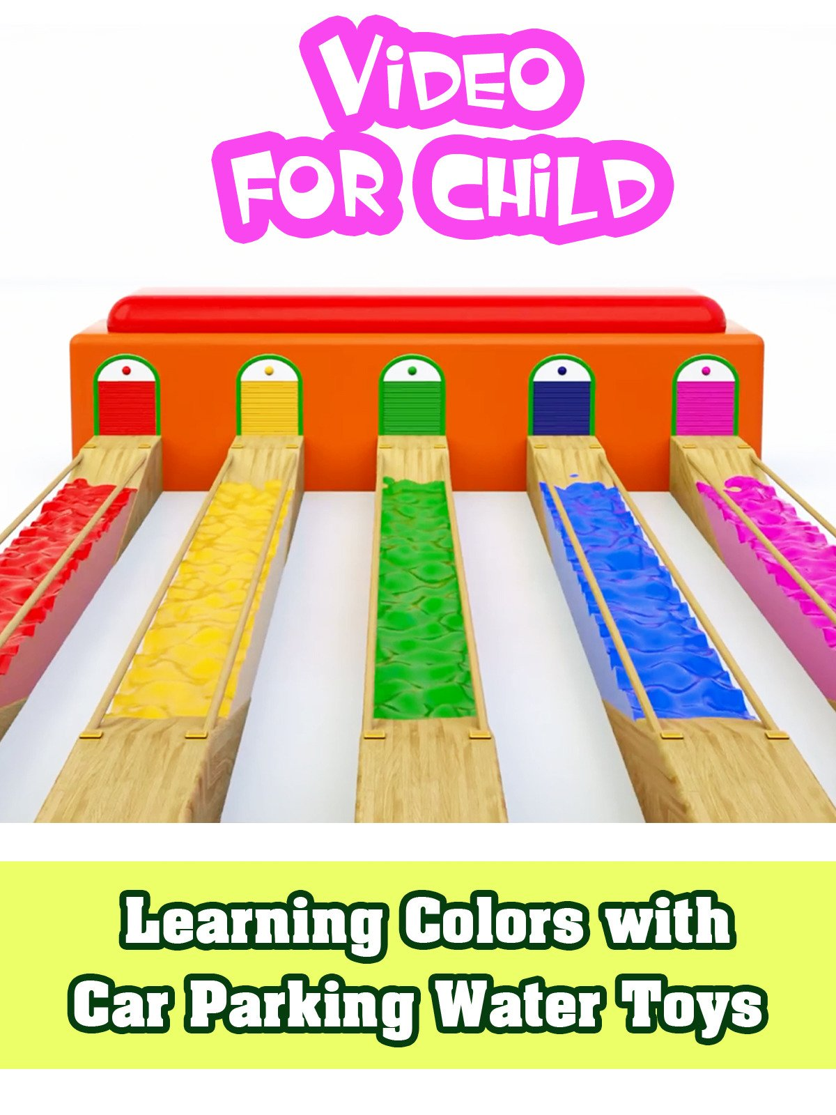 Learning Colors with Car Parking Water Toys