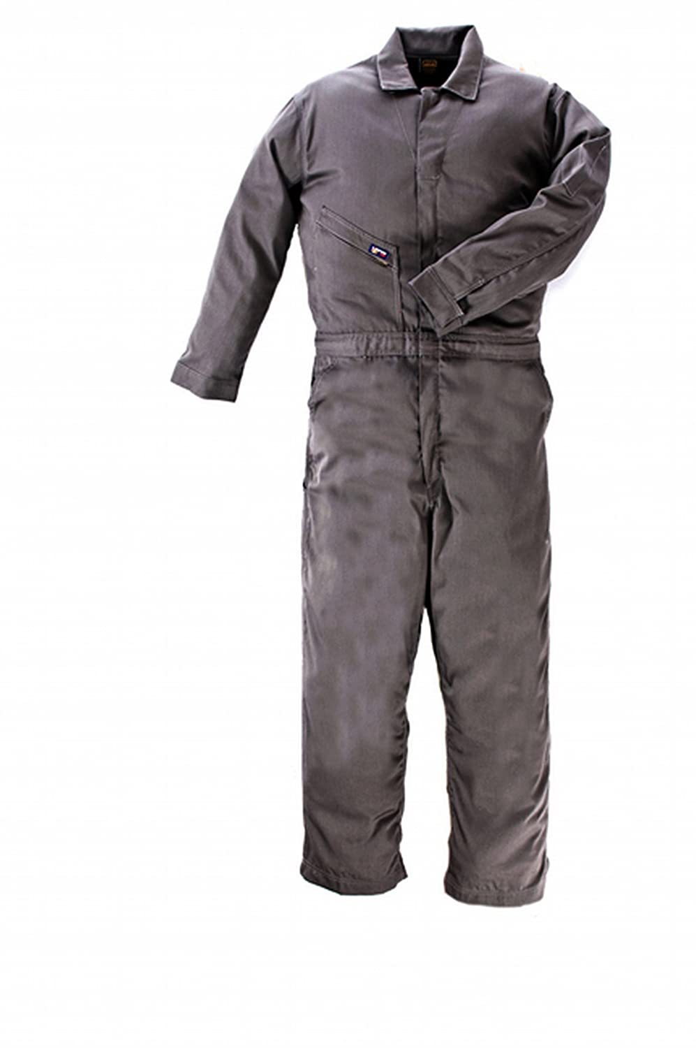 LAPCO CVFRD7GY-XL TL Lightweight 100-Percent Cotton Flame Resistant Deluxe Coverall, Gray, X-Large, Tall