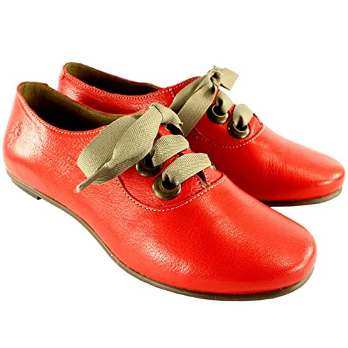 Womens Fly London FA Oxfords Mary Jane Flats Work Casual Leather Shoes