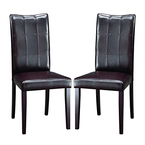 Metro Shop Eugene Dark Brown Modern Dining Chairs (Set of 2)