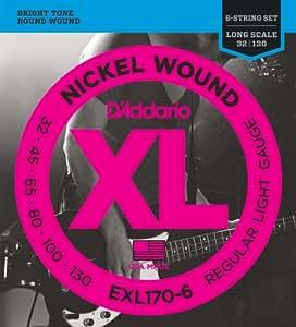 D'Addario ダダリオ ベース弦 ニッケル Long Scale 6弦 .032-.130 EXL170-6 【国内正規品】