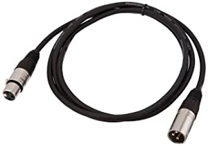 AmazonBasics XLR Male to Female Microphone Cable - 6 Feet (Tamaño: 6 Feet)