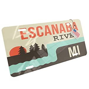 Escanaba River license plate