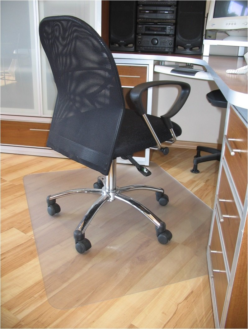 "ProSource 47"" x 35"" Clear Multitask Polycarbonate Office Chair Floor Mat for Hardwood Floors (47"" x 35"" Rectangular)"