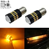 JDM ASTAR Exteremly Bright 4014 Chipsets 7507 BAU15S LED Bulbs with Projector,Amber Yellow