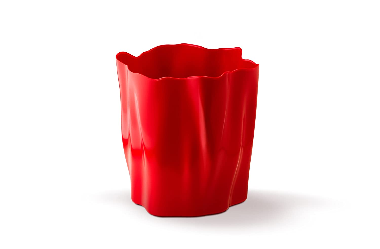 Qualy QL10141R Papierkorb Flow Bin 28 x 28 x 29 cm, rot jetzt bestellen