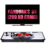 ?1299 Games IN 1?Arcade Game Console Ultra Slim Metal Double Stick 1299 Classic Arcade Game Machine 2 Players Pandoras Box 5S 1280X720 Full HD Video Game Console For Computer & Projector & TV