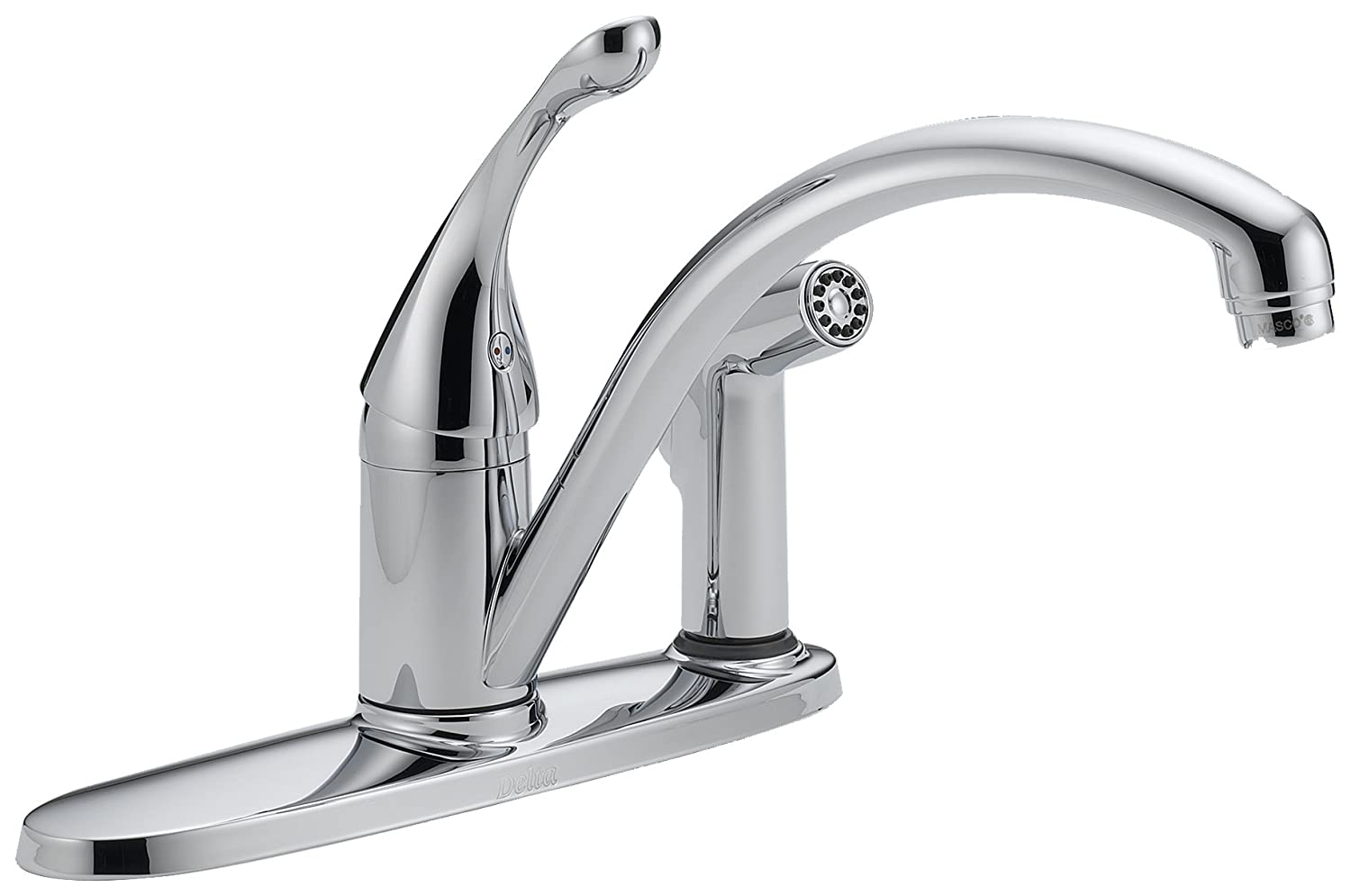 Delta 340-DST Collins Single Handle Kitchen Faucet with Integral Spray, Chrome