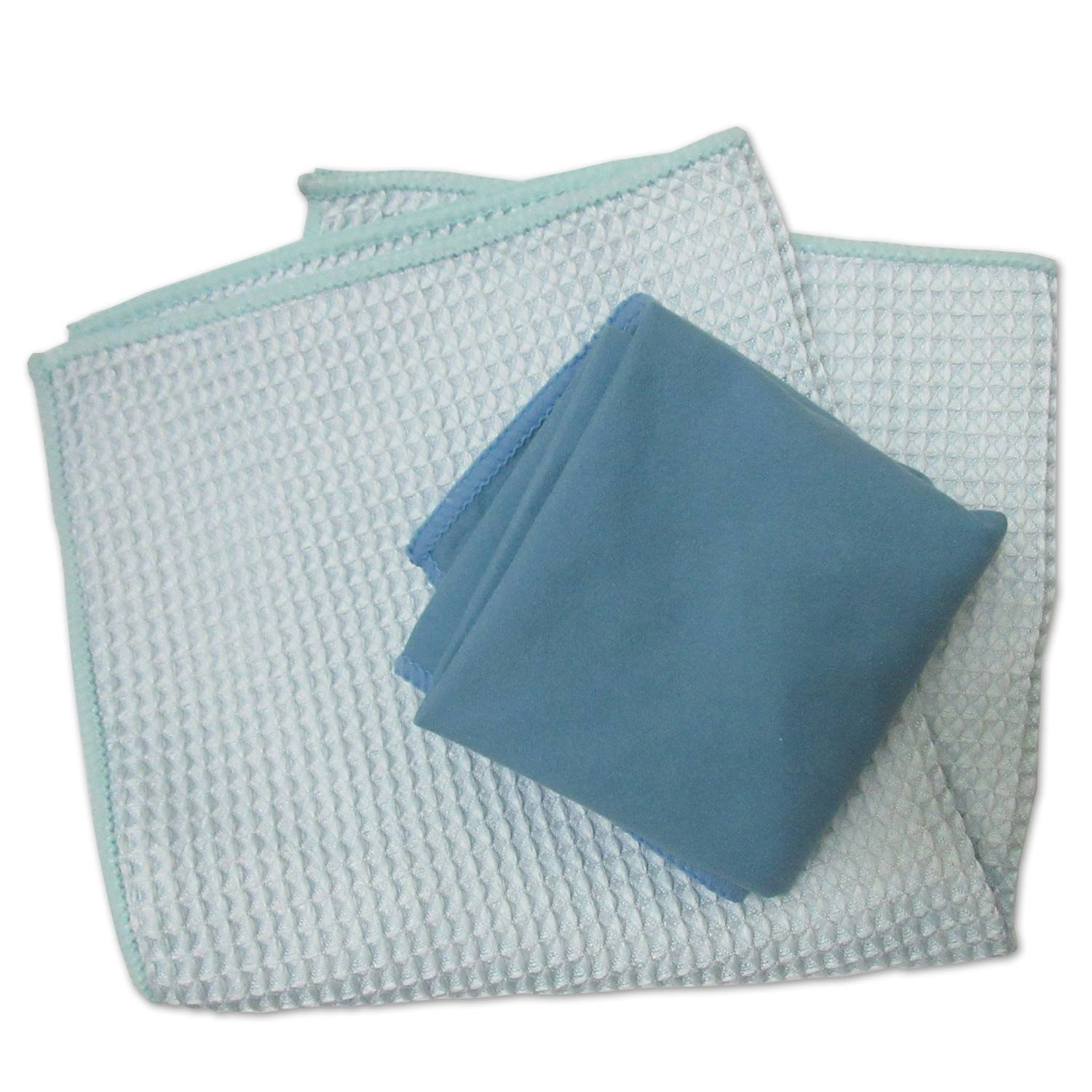 COMFIT MICROFIBER WINDOW AND MIRROR CLEANING & POLISHING STREAK-FREE, LINT-FREE NO CHEMICALS PACK