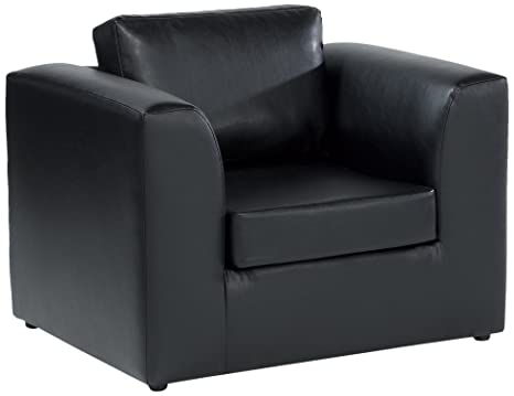 Churchfield Sofabed Raphael Chair with Faux Leather Fabric, Black