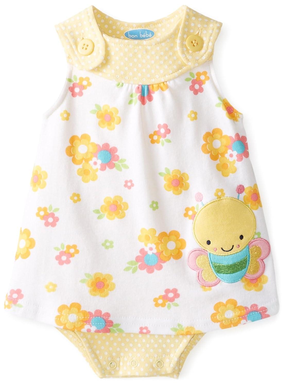 BON BEBE Baby-Girls Newborn Flowers Sleeveless Sundress miss bon bon mi045ewrkm11