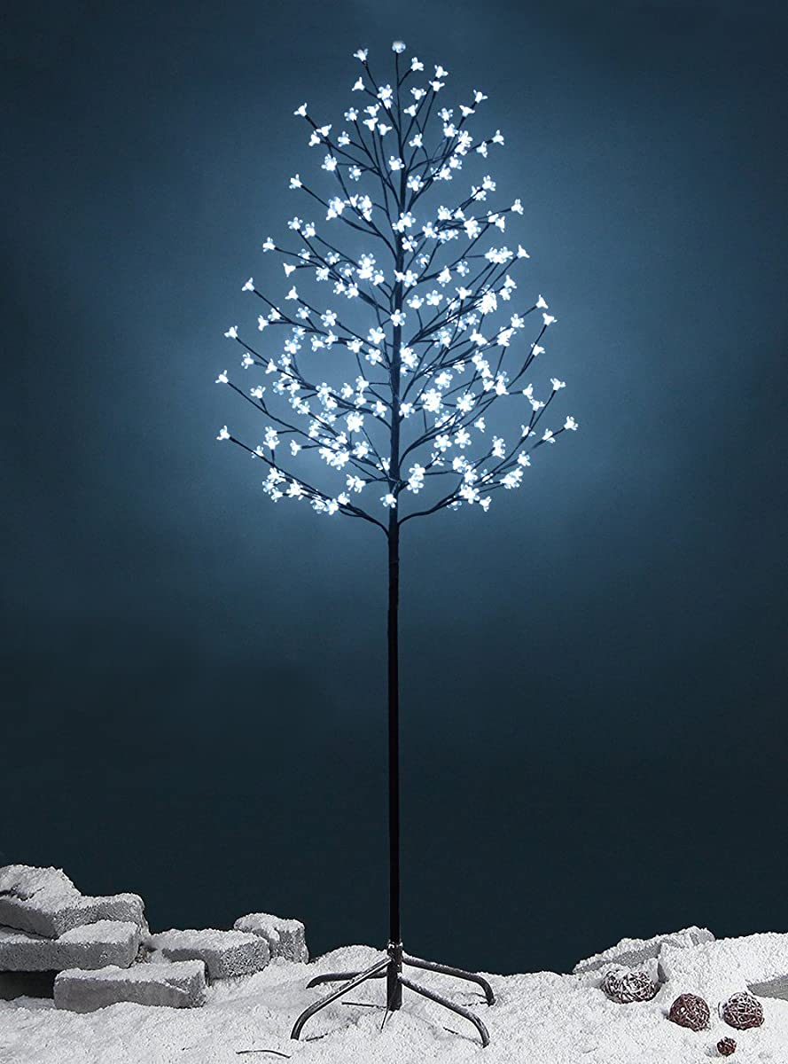 Fashionlite 6-feet 240 led cherry blossom flower tree light decoration(bright white)