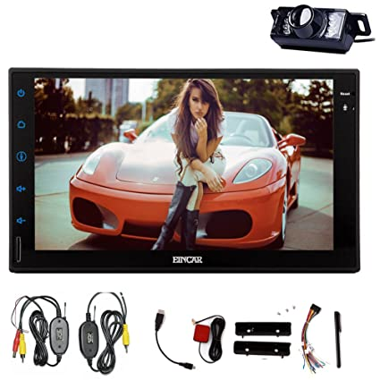 ?Systššme Android KitKat voiture Non Lecteur DVD Eincar 7 pouces Double Din En Dash capacitif HD šŠcran multi-touch GPS StšŠršŠo Radio Support Navigation Bluetooth / SD / USB / iPod / iPhone / AM / F
