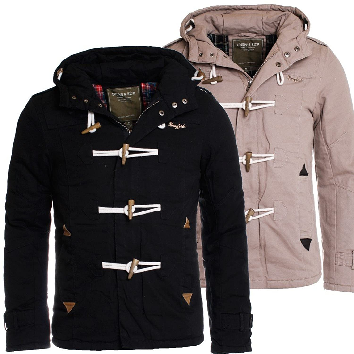 Young & Rich Herren Winter Jacke Dufflecoat