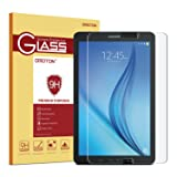 Samsung Galaxy Tab E 9.6 Screen Protector, OMOTON Tempered Glass, [9H Hardness] [Crystal Clear] [Scratch-Resistant] [Easy Installation] Perfect for Samsung Galaxy Tab E 9.6 inch Tablet(2015 Released) (Color: Clear)