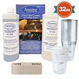 32-Ounce Alumilite Amazing Clear Cast Resin, 20x Disposable Graduated Clear Plastic Cups, Pixiss Mixing Sticks Bundle (Tamaño: 1 Pack)