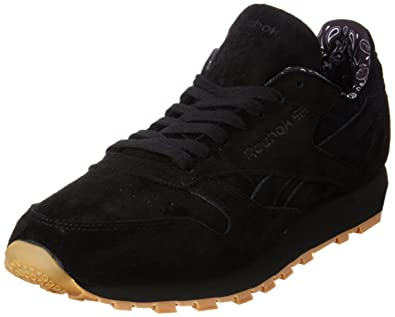 Reebok Classics Men's Cl Leather Tdc Black and White Gum Leather Sneakers 10 UK