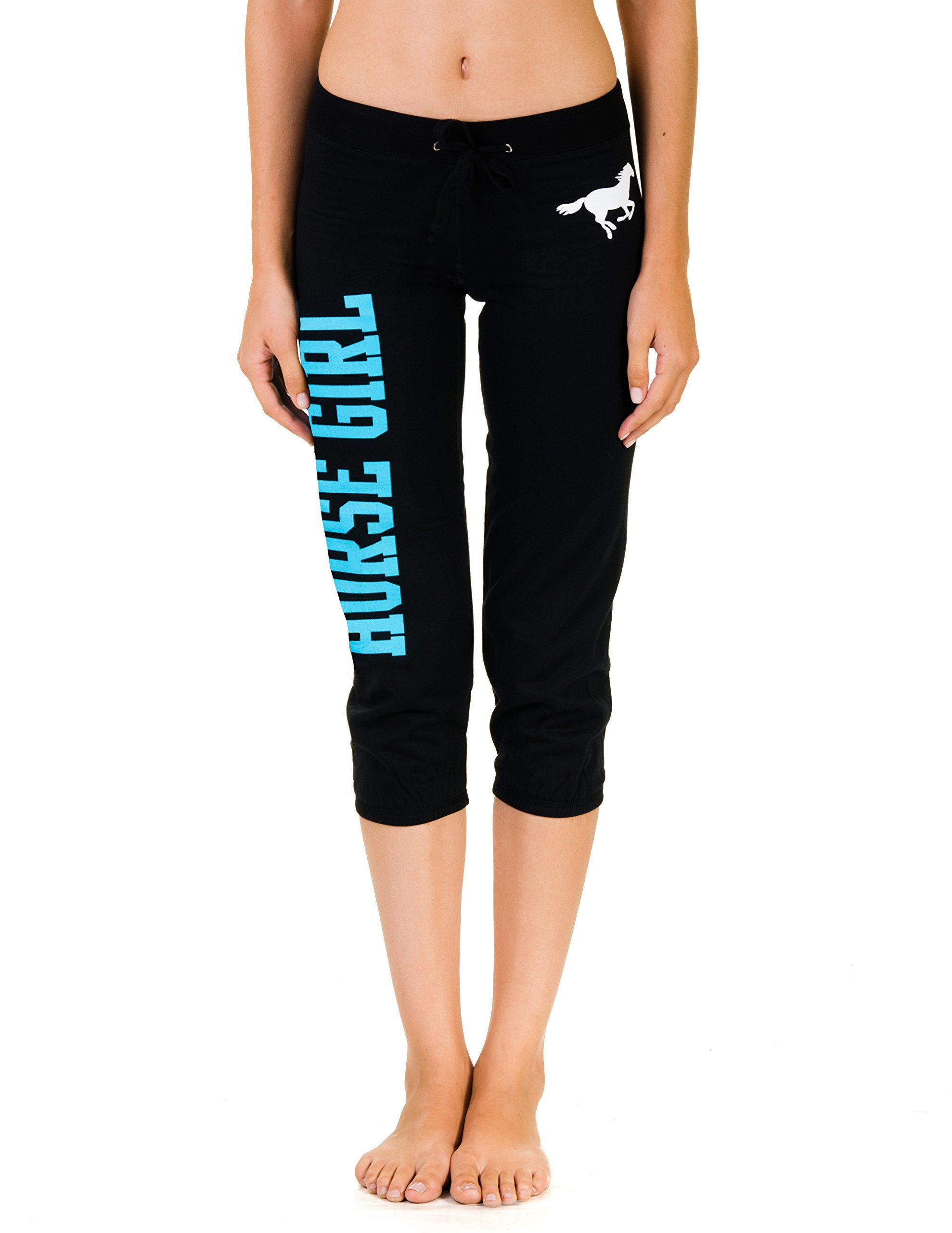 Juniors Equestrian Horse Capri Sweats