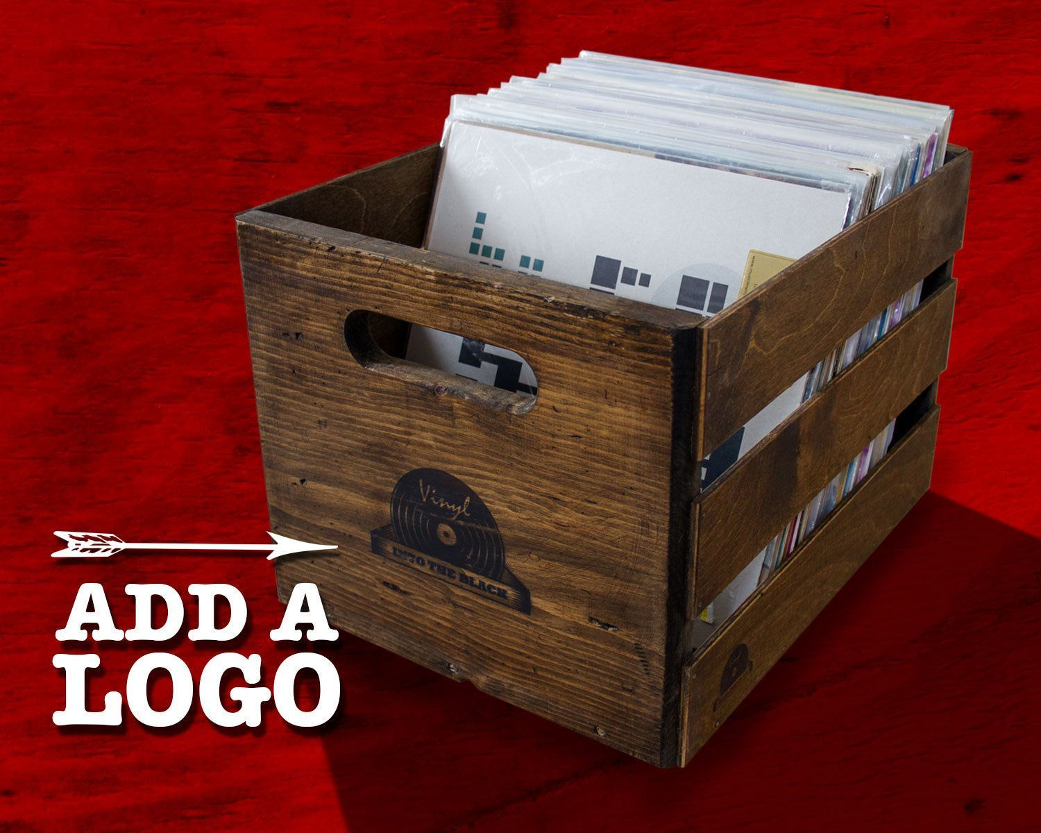 Stackable Vintage Record Crate Holds 100lps
