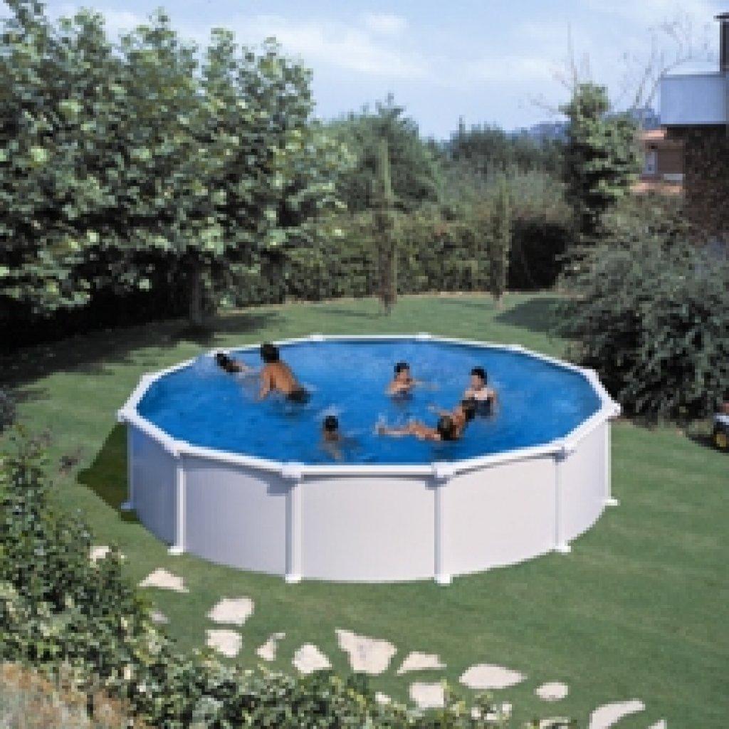 gre dream pool atlantis stahlwandpool weiss 4,60x1,32m