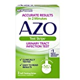 AZO Urinary Tract Infection (UTI) Test Strips   Accurate Results in 2 Minutes   Clinically Tested   Easy to Read Results   Clean Grip Handle   #1 Most Trusted Brand   3 Self-Testing Strips