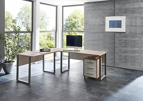 Arbeitszimmer Buro Möbel OFFICE EDITION (Schreibtisch mit Rolli)