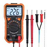 Proster Digital Multimeter 8233D Pro 2000 Counts TRMS NCV AC DC Current Voltage Temperature Transistor (hFE) Diode and Continuity Tester (Color: Orange)