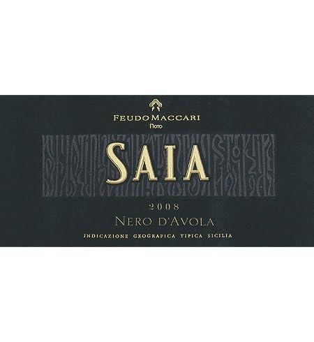 2008 Feudo Maccari SAIA Nero d'Avola, Sicily 750 mL at Amazon's Wine