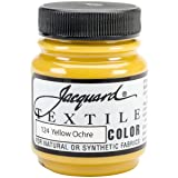 Jacquard Products TEXTILE-1124 Textile Color Fabric Paint, 2.25-Ounce, Yellow Ochre (Color: Yellow Ochre, Tamaño: 2.25-Ounce)