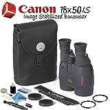 Canon 18x50 is Image Stabilized Binocular Starters Bundle (Color: Starters Bundle, Tamaño: 18x50 IS Image Stabilized Binocular)