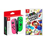 Nintendo Super Mario Party Video Game Joy-Con Controllers Neon Pink & Green (Color: Neon Pink and Green)