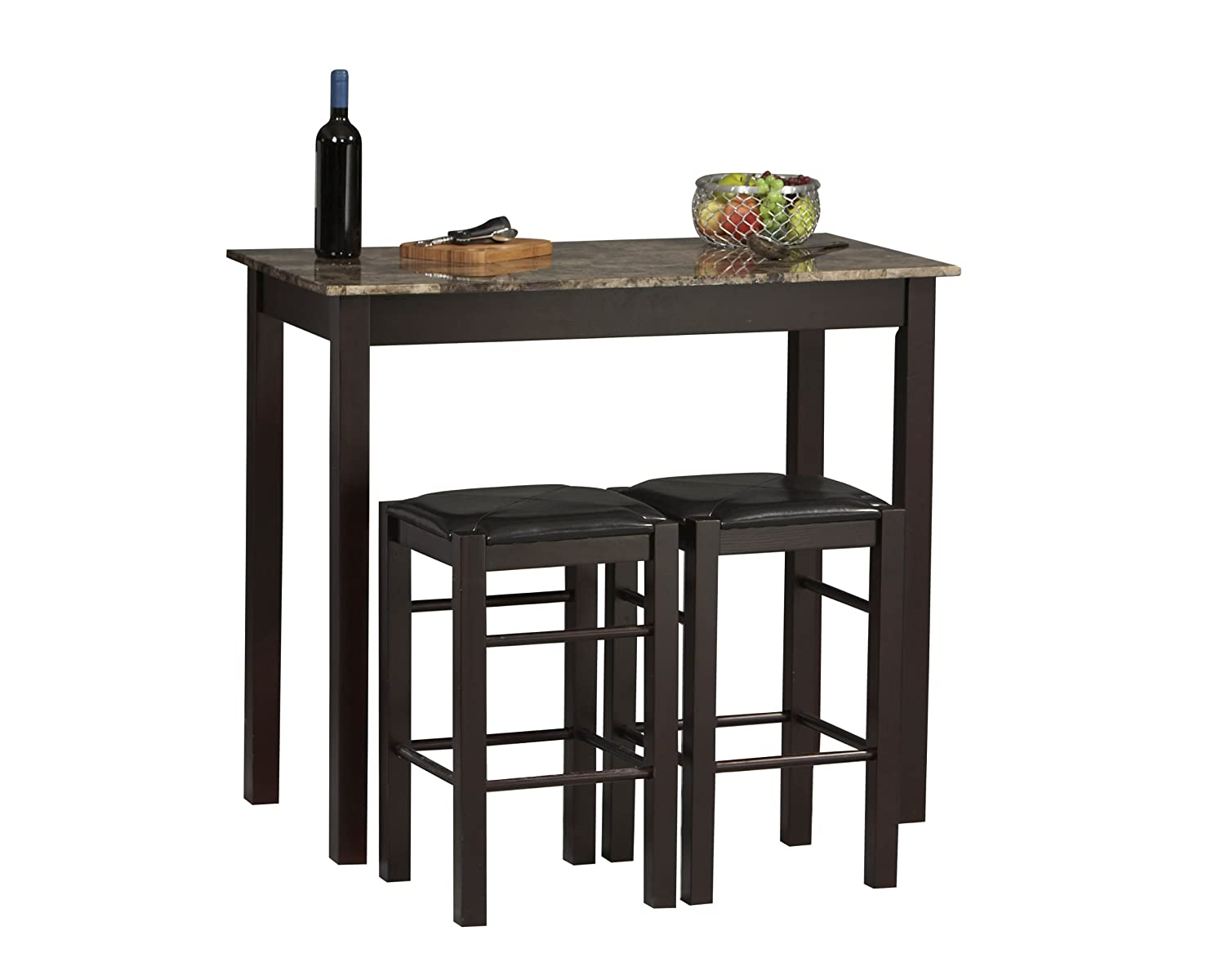 Small kitchen table sets for Small dining table with stools