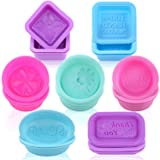 HEHALI Silicone Soap Mold - 21pcs Square Round Oval Molds - Food-Grade Silicone Handmade Mold/Baking Mold (Color: 21pcs)