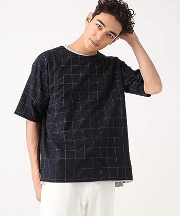 RAGEBLUE(レイジブルー) [レイジブルー] リネン混チェック柄プルオーバーシャツ