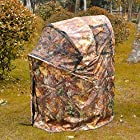 Ground Deer Hunting Blind Woods Camouflage Turkey Hunting Tent 1 Man Fold Chair